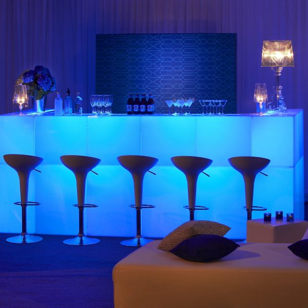 Blue Glow Bar