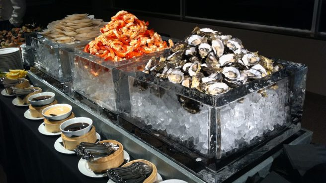 Seafood Station in Ice Boxes