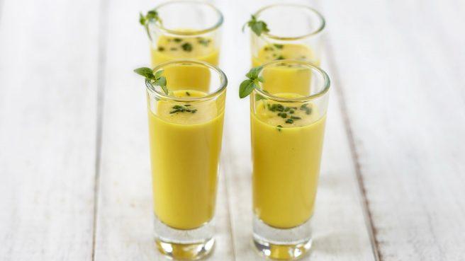 Sweetcorn and Basil Soup Shot